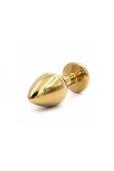 Altın Kaplama Swarovski Taşlı 8 cm Anal Plug