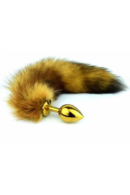 Altın Alaşımlı Tilki Kuyruklu 85 gr Anal Plug