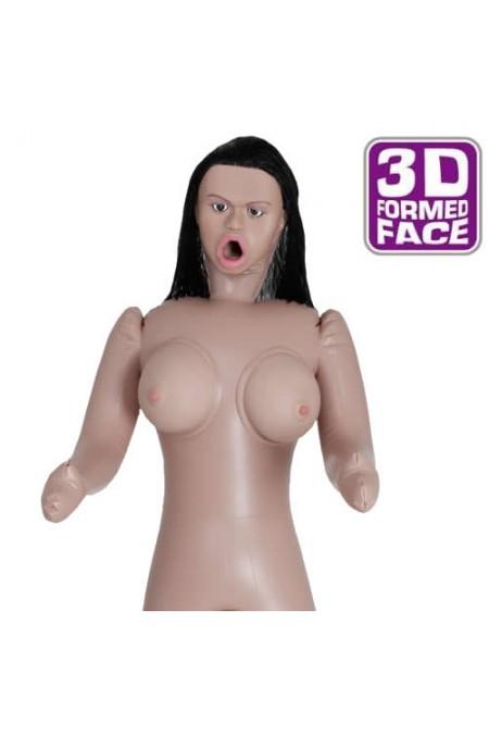 Eva Saldana 3D Gerçek Yüzlü 3 işlevli Şişme Bebek