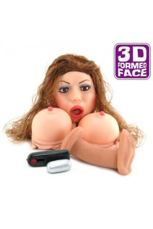 Larissa 3D Gerçek Yüzlü 3 işlevli Şişme Bebek