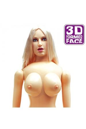 Linda 3D Gerçek Yüzlü 3 işlevli Şişme Bebek