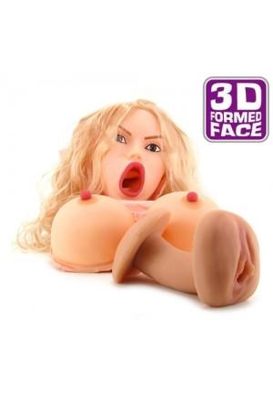 Nina 3D Gerçek Yüzlü 3 işlevli Şişme Bebek