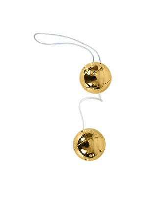 Altın Kaplama İpli İkili Manyetik Orgazm Topu